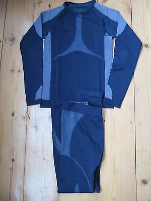 Boys / Girls Thermal Base Layer Long Sleeve Top And Leggings Age 9-10 Blue