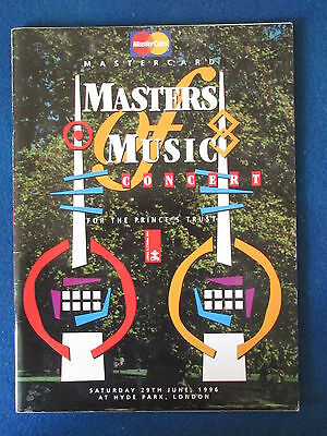 Masters of Music Programme 1996 - Eric Clapton-The Who-Bob Dylan-Jools Holland