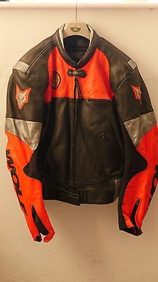 WOLF mens leather motorcycle jacket XL