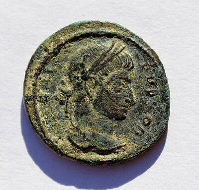 Scarce Roman coin. Crispus caesar, Constantine´s son executed by his father. 204