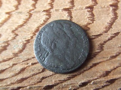 William & Mary  1694, Farthing.  .   Rare.  Nice Condition.