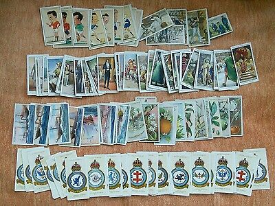 Job lot of over 140 vintage cigarette cards
