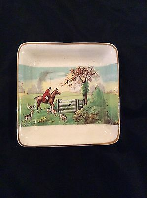 Midwinter Burglem Porcelain England Square Dish With Countryside Scenery