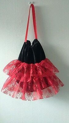 moulin rouge burlesque flapper saloon girl can can spanish dancer handmade bag