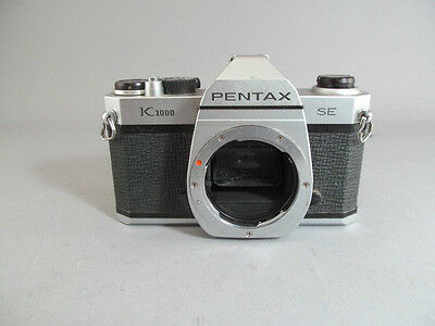 Vintage Pentax K1000 SE 35mm Film Camera Body Only For Parts Or Repair