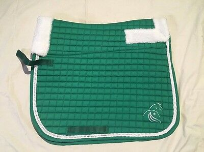 Green Fleece Lined Saddle Cloth