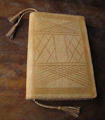 Embossed Leather Writing / Stationery Case / Wallet