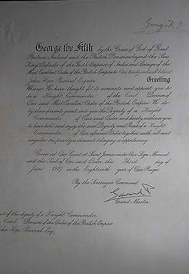 King George V & King Edward VIII Hand Signed Autograph British Empire Document