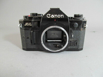 Vintage Canon A-1 Black 35mm Film Camera Body Only