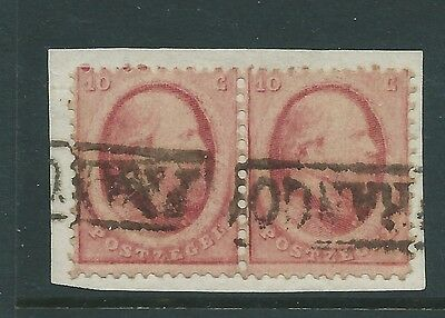 Netherlands Early Pair On Piece Nice!