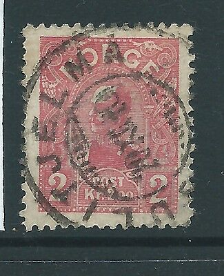 NORWAY 1907 2KR 20mm HIGH  RARE USED
