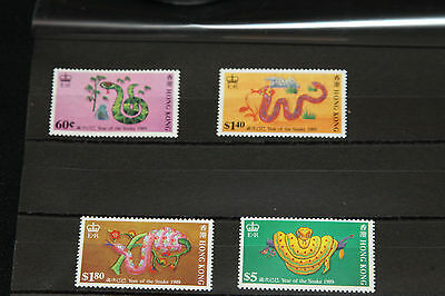 Hong Kong 1989 - Year Of Snake - Complete Set U/mint