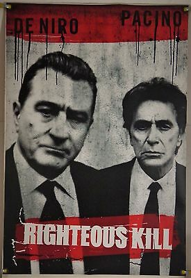 Righteous Kill Ds Rolled Adv Orig 1Sh Movie Poster Robert De Niro Al Pacino 2008