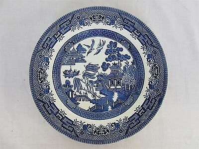 Churchill Old English blue willow pattern - dessert plate (Lot 3)