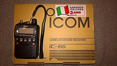 Icom r6 scanner in garanzia + software