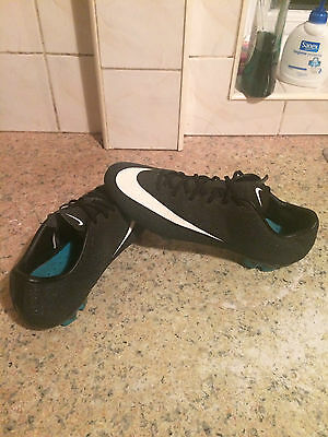 mens nike cr7 football boots size uk 9 black sparkles