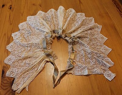 Antique/vintage LACE COLLAR with ECRU BOW / DRESSING COLLAR