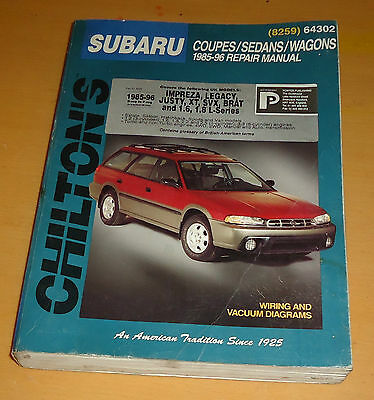Chilton's Subaru Coupes/Sedans/Wagons 1985-96 Workshop Repair Manual