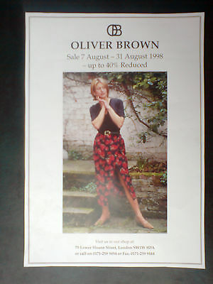 vintage glossy advert,oliver brown sale,measures11.5x8.25 inches