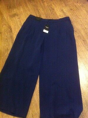 New NEXT Ladies Size 10 Navy Culottes Work Trousers £35 Clothes