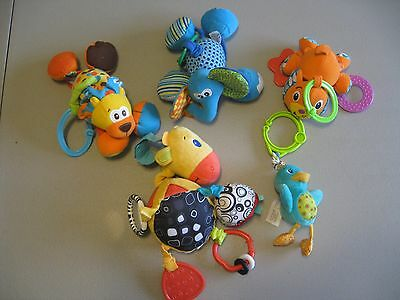 Baby/Toddler Car Seat and Stroller Hanging Toys Lot of 5