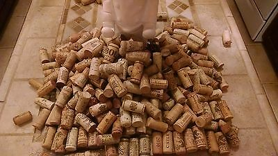 200 Used Wine Corks Assorted Brands - Free Shipping - No Sythetics Or Champagne