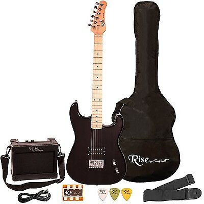 Rise by Sawtooth ST-RISE-ST-BLK-KIT-1 Electric Guitar Pack Black