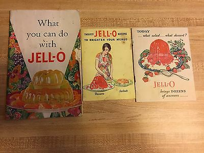 3 Vintage Jell-o Jello Recipe booklet from 1928 1931 1933