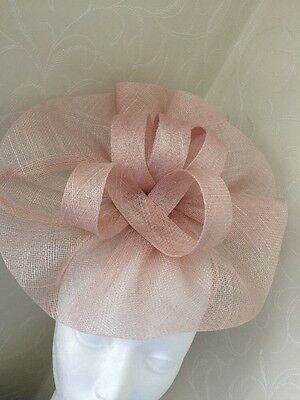 Pale Pastel nude Pink Fascinator Wedding Race Day Headband Accessories