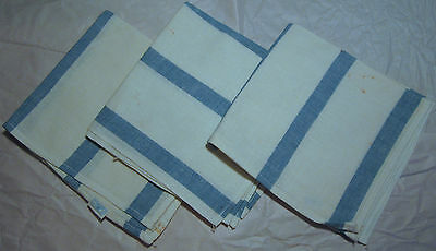 Cannon old stock BLUE stripe kitchen dish towel 3 all cotton 15 x 28 vintage