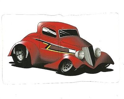 1934 FORD ZZ TOP HOT ROD  Sticker Decal