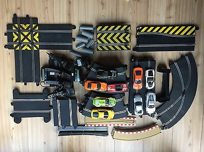 Scalextric - 9 cars – 47 pieces of track – and various accessories