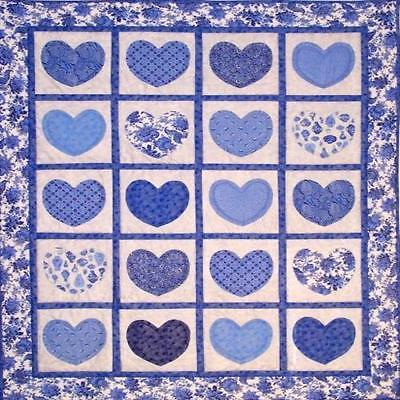 HEART SCRAP BABY QUILT QUILTING PATTERN, from Tivoli Quilt Creations, *NEW*