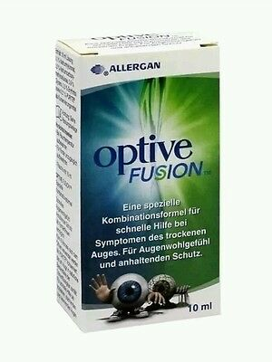 optive fusion eye drops care 10ml allergan new
