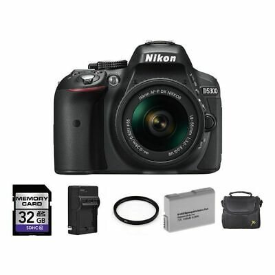 Nikon D5300 Digital SLR Camera w/18-55mm Lens + 2 Batteries, 32GB & More