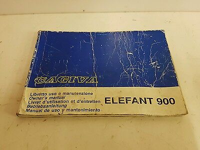 Cagiva 900 Owners Manual