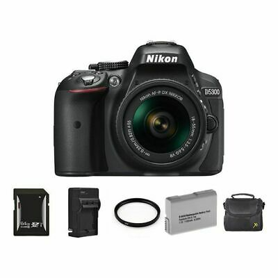 Nikon D5300 Digital SLR Camera w/18-55mm Lens + 2 Batteries, 64GB & More