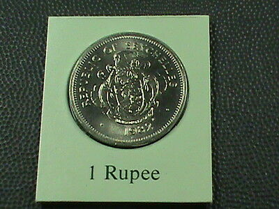 SEYCHELLES   1 Rupee  1982   UNCIRCULATED  $ 2.99  maximum  shipping  in  USA