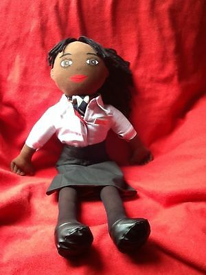 Stewardess Doll Airline Cabin Crew Hand-Painted Personalised Name Badge