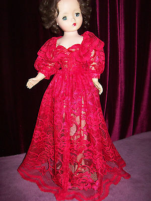 Red Lace Peek-A-Boo Peignoir And Corselet ~ For Madame Alexander Cissy Doll