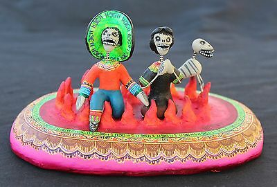 Day of the Dead, Anima Sola, Lonely Soul - Man, Woman & Dog, Mexican Folk Art