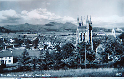 Nice Old Postcard -  The Church And Town,portmadoc,wales