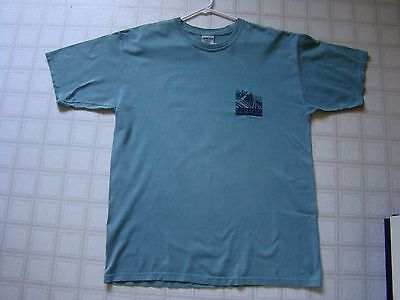 """SEBAGO BREWING CO MAINE Beer t-shirt Adult L 23"""" GRITTY'S / GEARY'S / ROCKY BAY"""