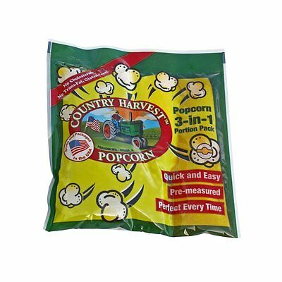 Country Harvest Popcorn Portion-Pack for 4-Ounce Poppers, Regular Case, 24-Count