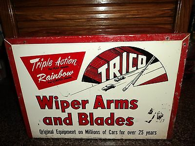 1950s Trico Windshield Wiper Garage Gas Station Display Tin Advertising