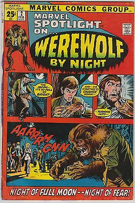 Marvel Spotlight (volume 1) #2, first Werewolf By Night