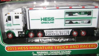 2013  Hess Mini Miniature Toy Truck And Racers-FREE SHIPPING