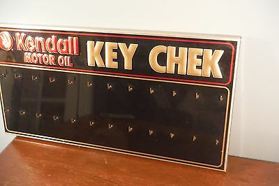 Tin KENDALL Motor Oil Gas Station Sign - Auto Center Key Check Rack Sign
