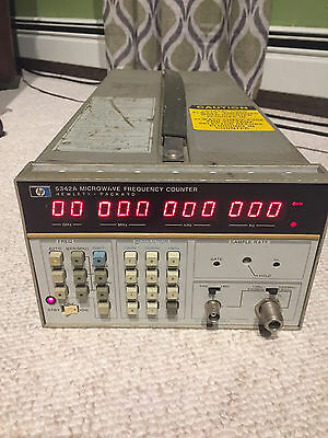 HP 5342A  -- 10Hz to 18GHz Microwave Frequency Counter  HEWLETT PACKARD AGILENT