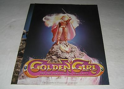 Galoob 1984 Golden Girls  Toy Fair Toy Catalog Salesman 2 Page Fold Out